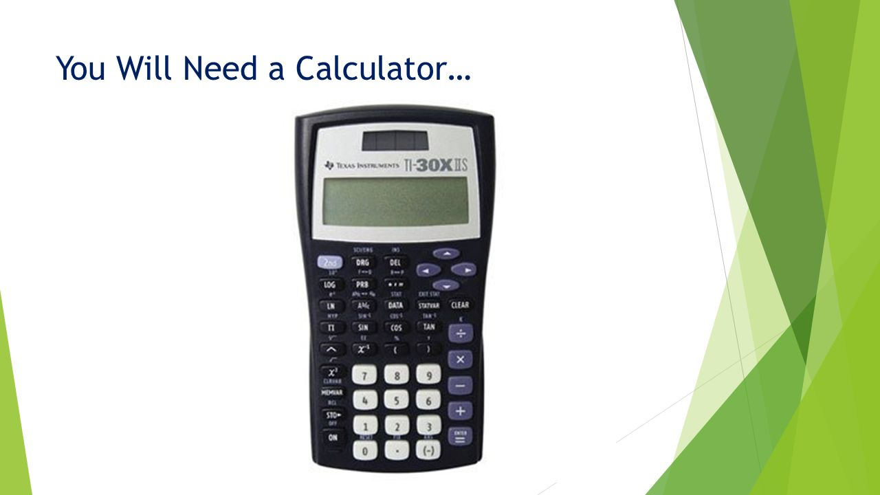 You Will Need a Calculator…