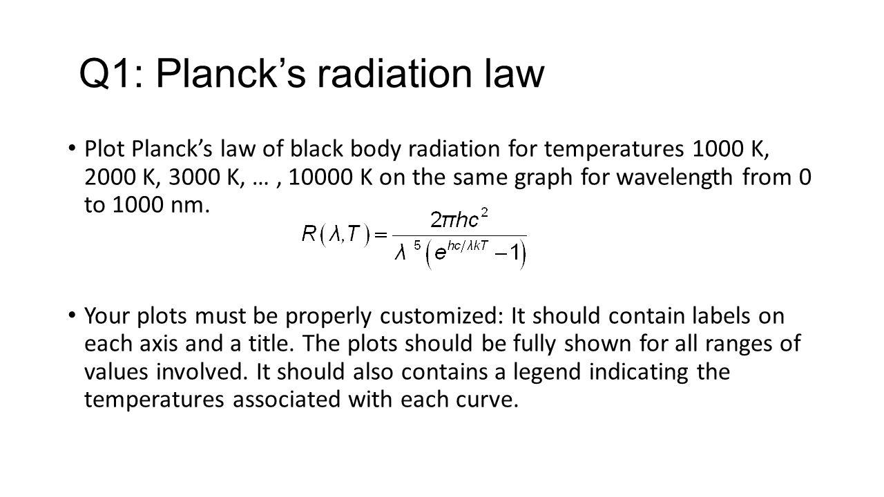 Q2: Wein's displacement law