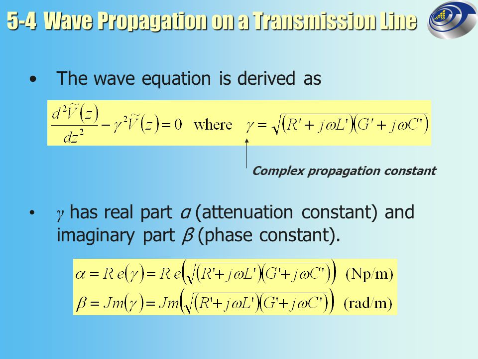 5-5.2 Standing Waves First voltage maximum occurs at First voltage minimum occurs at Voltage standing-wave ratio S is defined as
