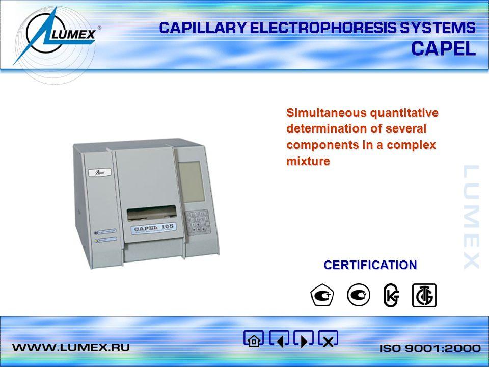 CAPILLARY ELECTROPHORESIS SYSTEMS CAPEL