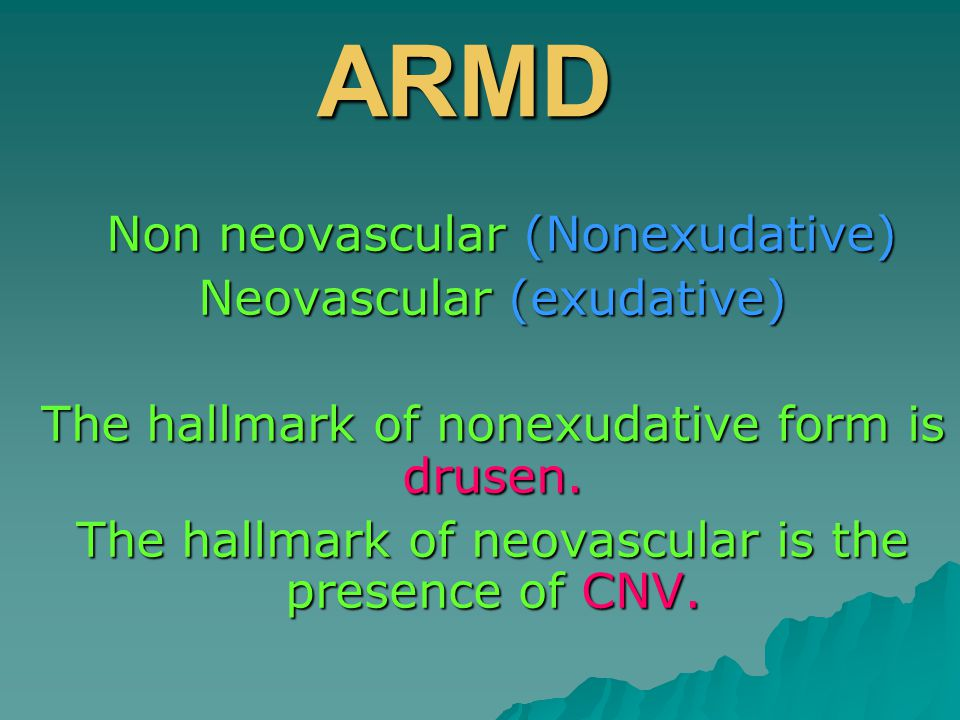 3 terms are important :  Predominantly classic CNV  Minimally classic CNV  Occult CNV with no classic