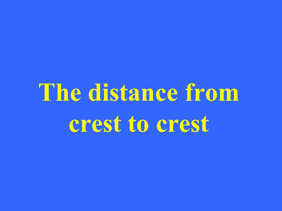 The distance from crest to crest