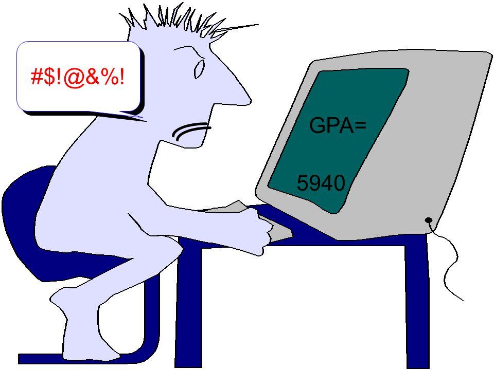 Calculations GPA= 5940 #$!@&%!