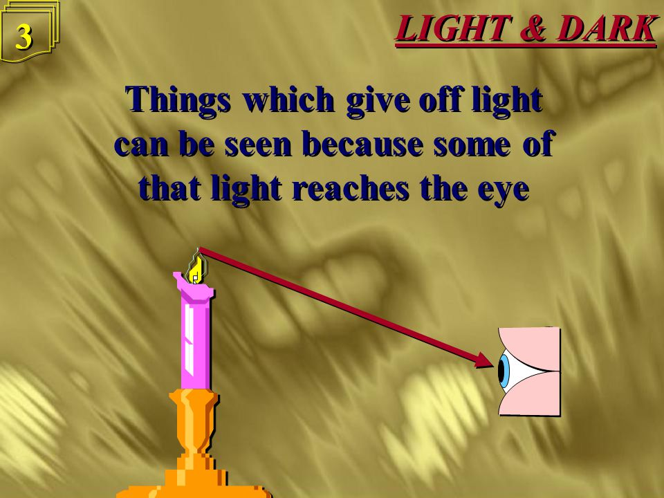 3 3 Things which give off light can be seen because some of that light reaches the eye Things which give off light can be seen because some of that light reaches the eye