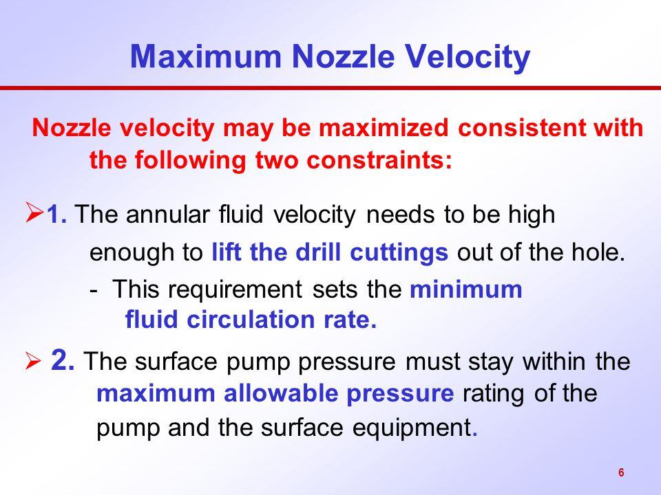 17 Maximum Jet Impact Force But parasitic pressure drop,