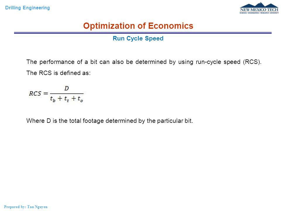 Drilling Engineering Prepared by: Tan Nguyen Break-even Analysis Optimization of Economics