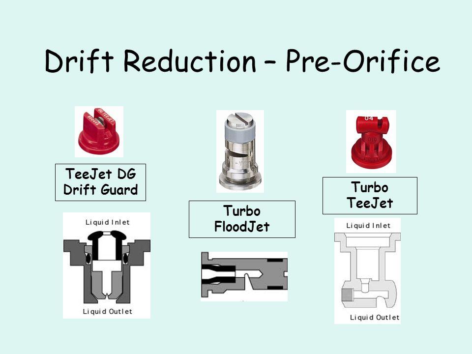 Nozzle Summary 1.Conventional (XR) Proven, wide pressure range, drift prone 2.