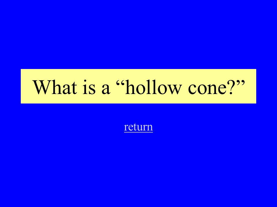 What is a hollow cone? return