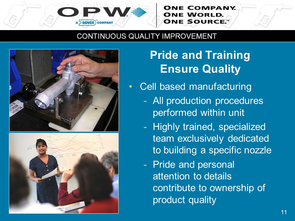 11 Pride and Training Ensure Quality Cell based manufacturing -All production procedures performed within unit -Highly trained, specialized team exclu