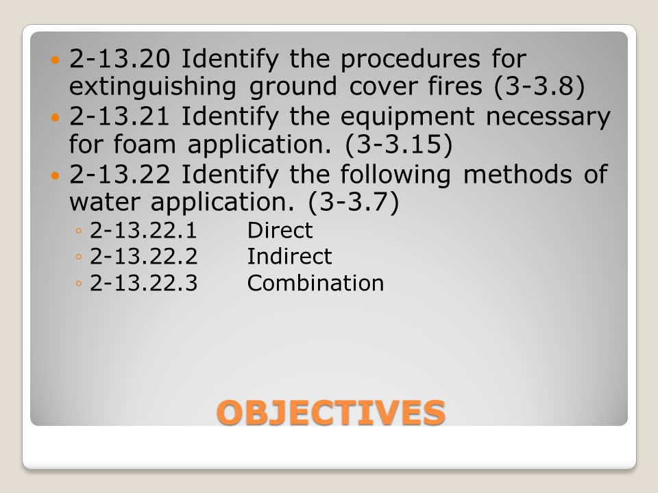 IDENTIFY A FIRE STREAM A stream of water or other extinguishing agent, after it leaves the fire hose and nozzle until it reaches the desired point.
