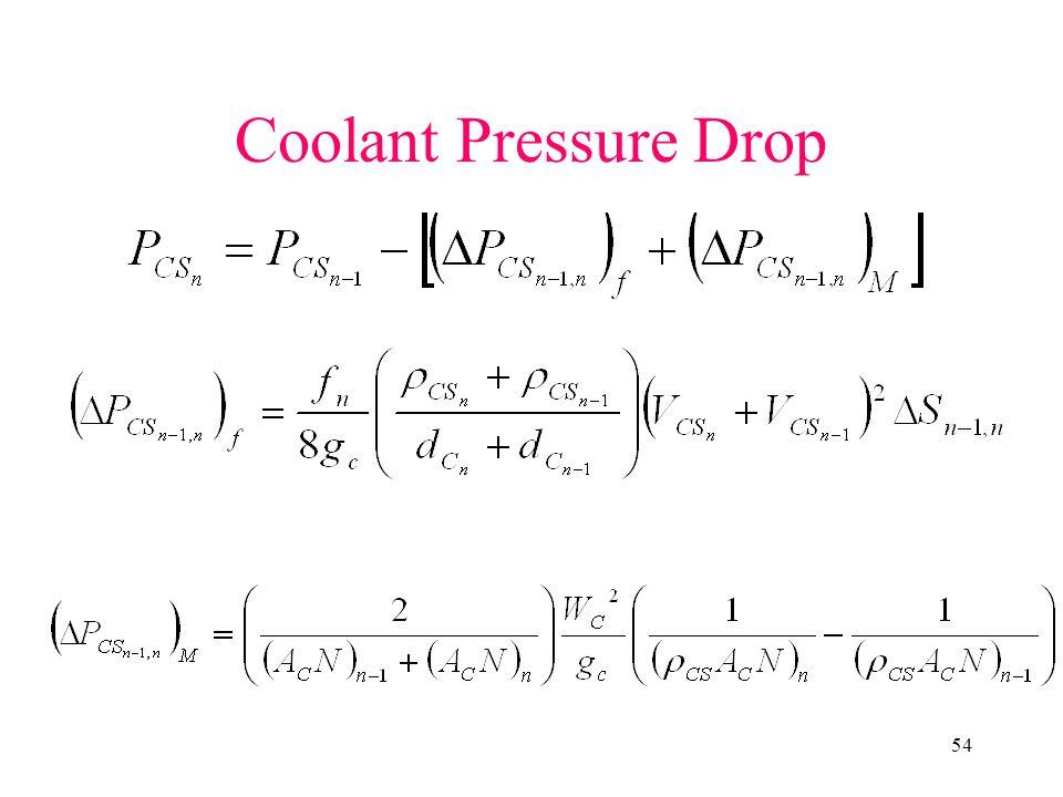 54 Coolant Pressure Drop