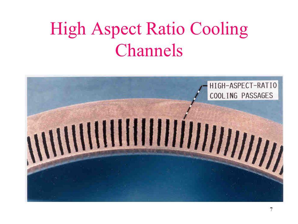 7 High Aspect Ratio Cooling Channels