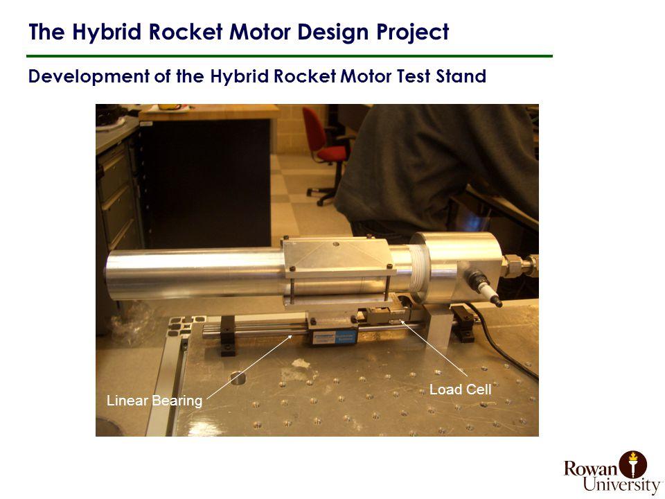Development of the Hybrid Rocket Motor Test Stand The Hybrid Rocket Motor Design Project Load Cell Linear Bearing