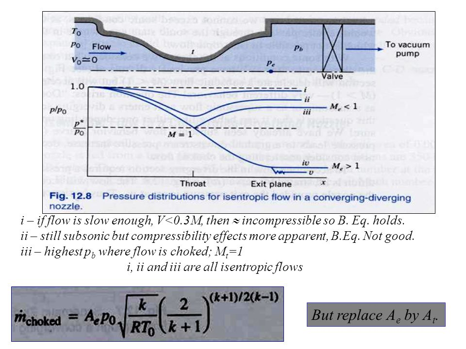 i – if flow is slow enough, V<0.3M, then  incompressible so B.