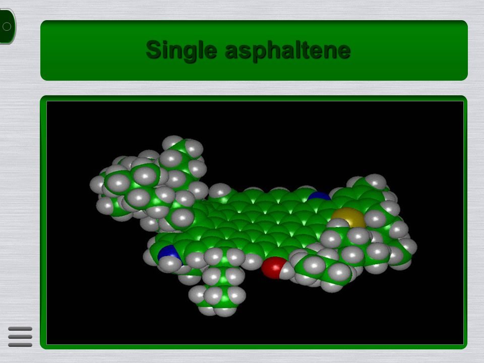 Single asphaltene