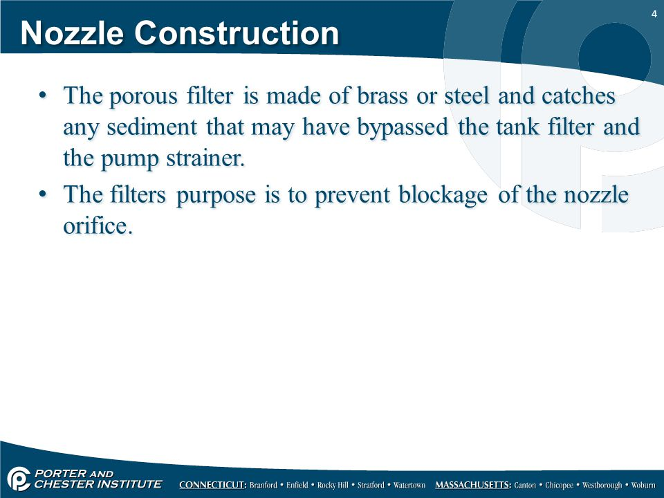 5 Oil Nozzle Construction