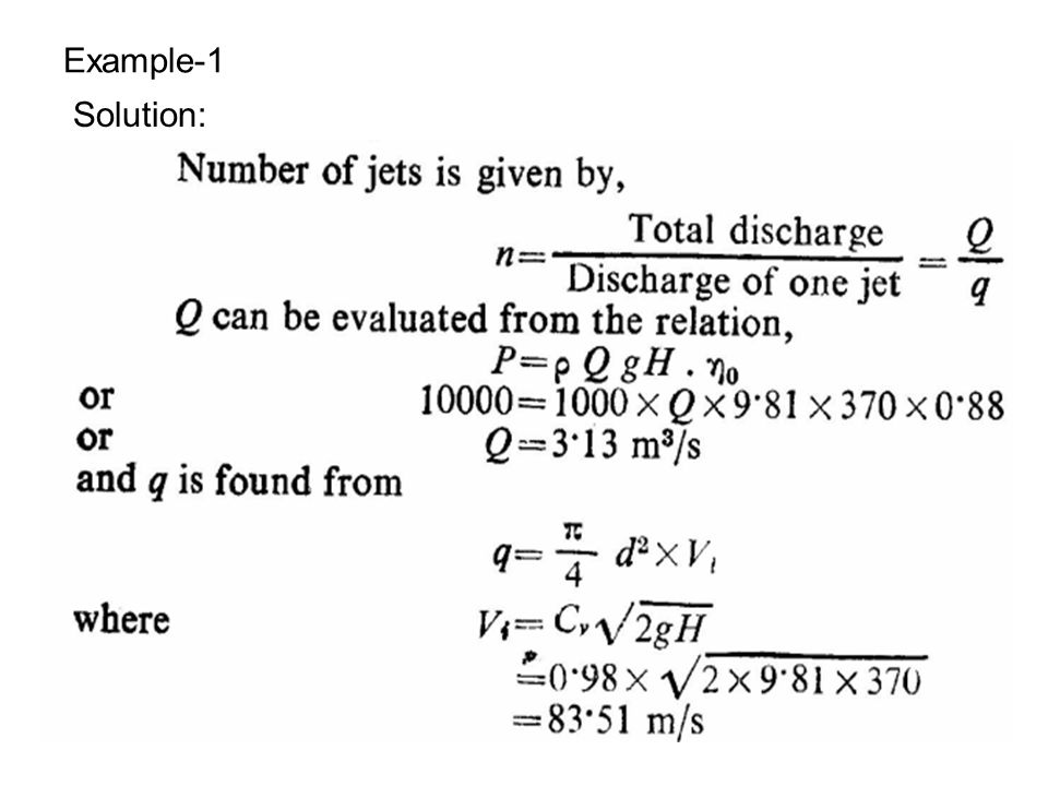 Example-1 Solution: