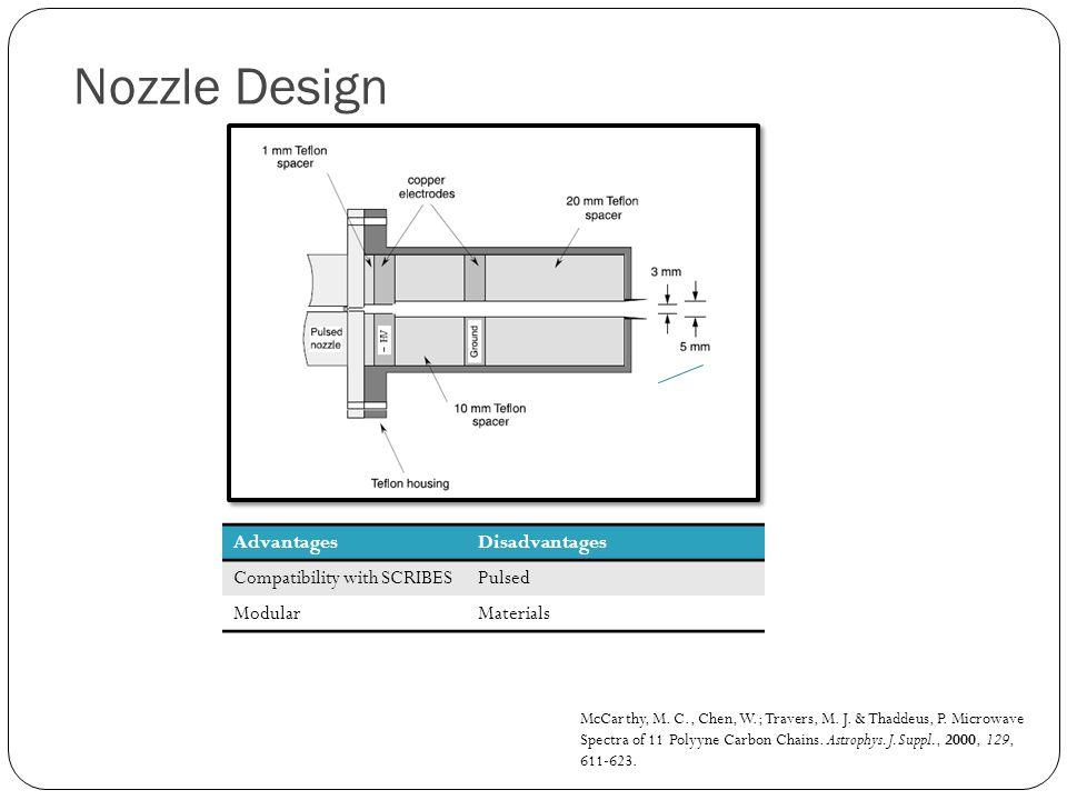 Nozzle Design McCarthy, M.C., Chen, W.; Travers, M.