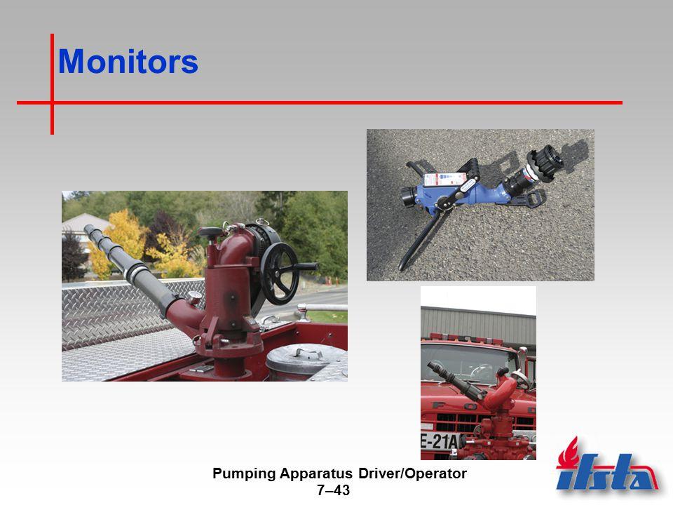 Pumping Apparatus Driver/Operator 7–43 Monitors