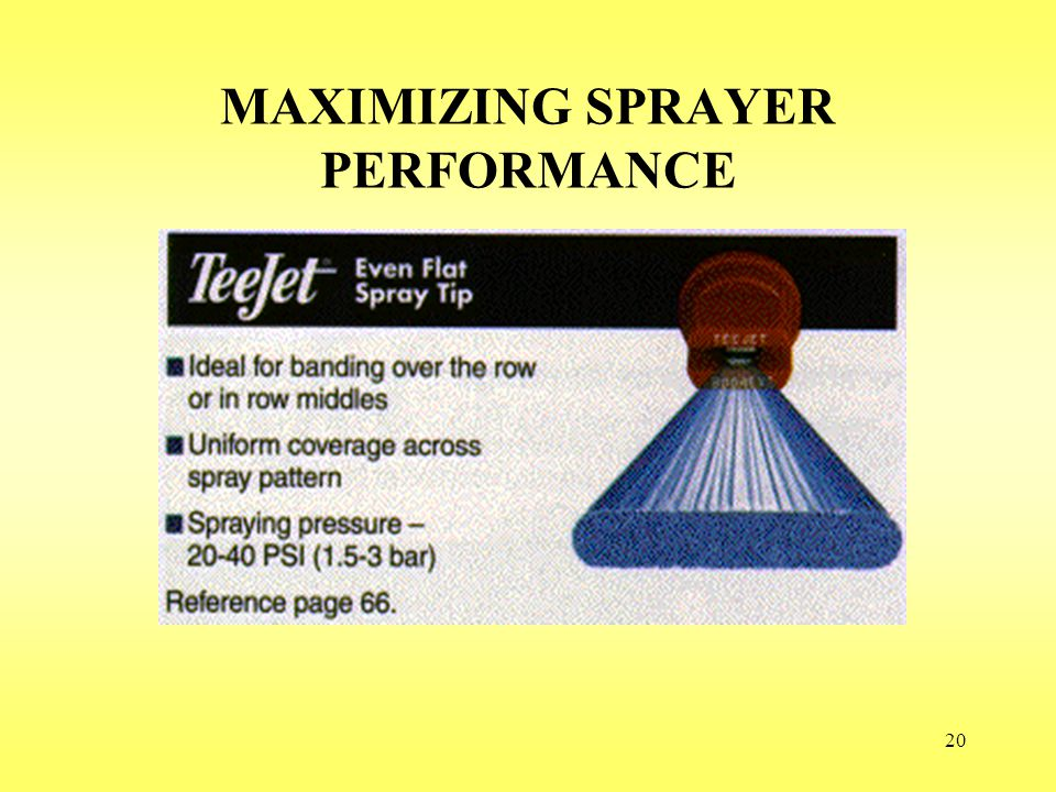 20 MAXIMIZING SPRAYER PERFORMANCE