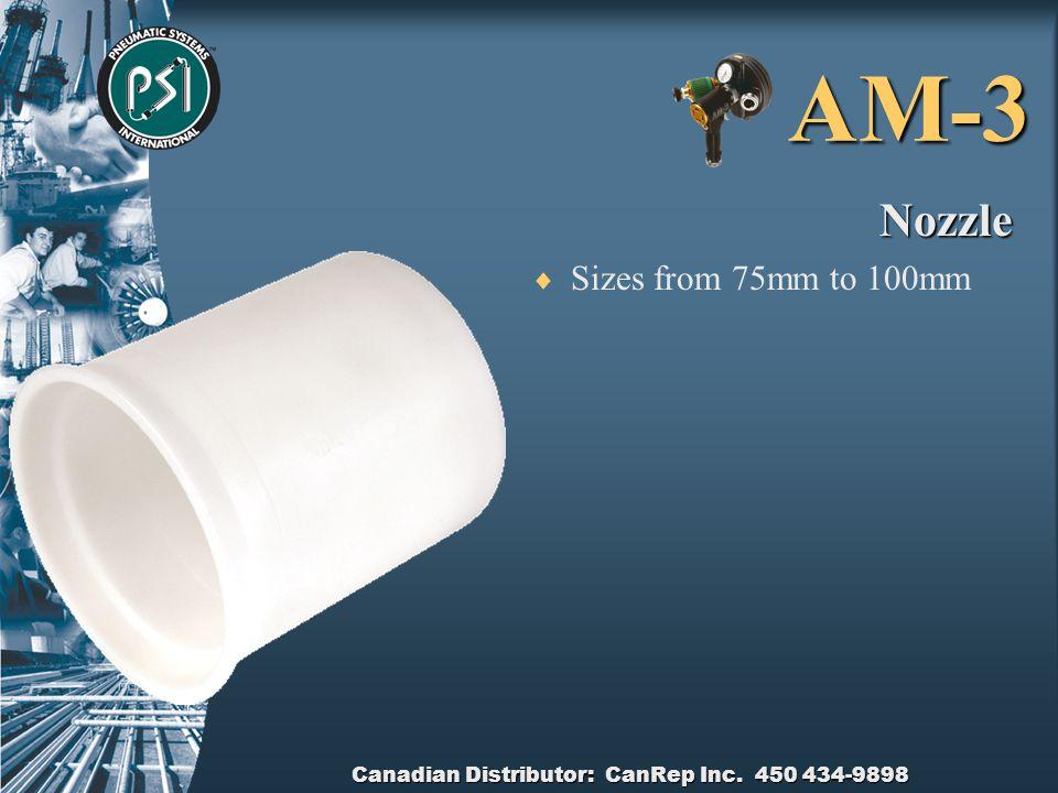 Canadian Distributor: CanRep Inc. 450 434-9898 AM-3 Pellet Launcher Head  100mm cast Aluminium  Pressure relief and gauge  Quick release face  Eas