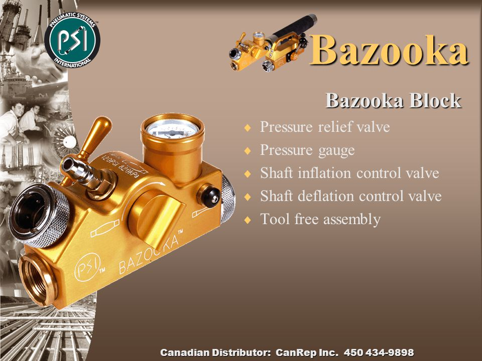 Bazooka Air Control Panel  Solid Billet Aluminium  19mm air inlet  Pressure relief valve  Safe action main air control  Bladder inflation controller  Robust/Sturdy  Lightweight construction