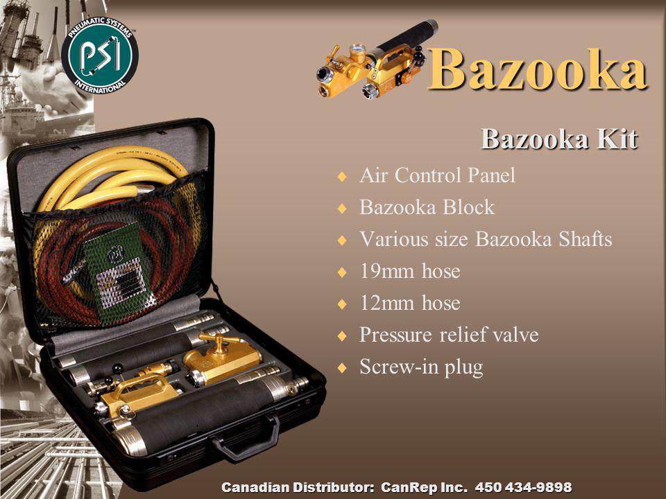 Canadian Distributor: CanRep Inc. 450 434-9898 Bazooka  Braking Reeler  Line used 2.5mm – 6mm  Line re winder  Constant braking system  Solid con