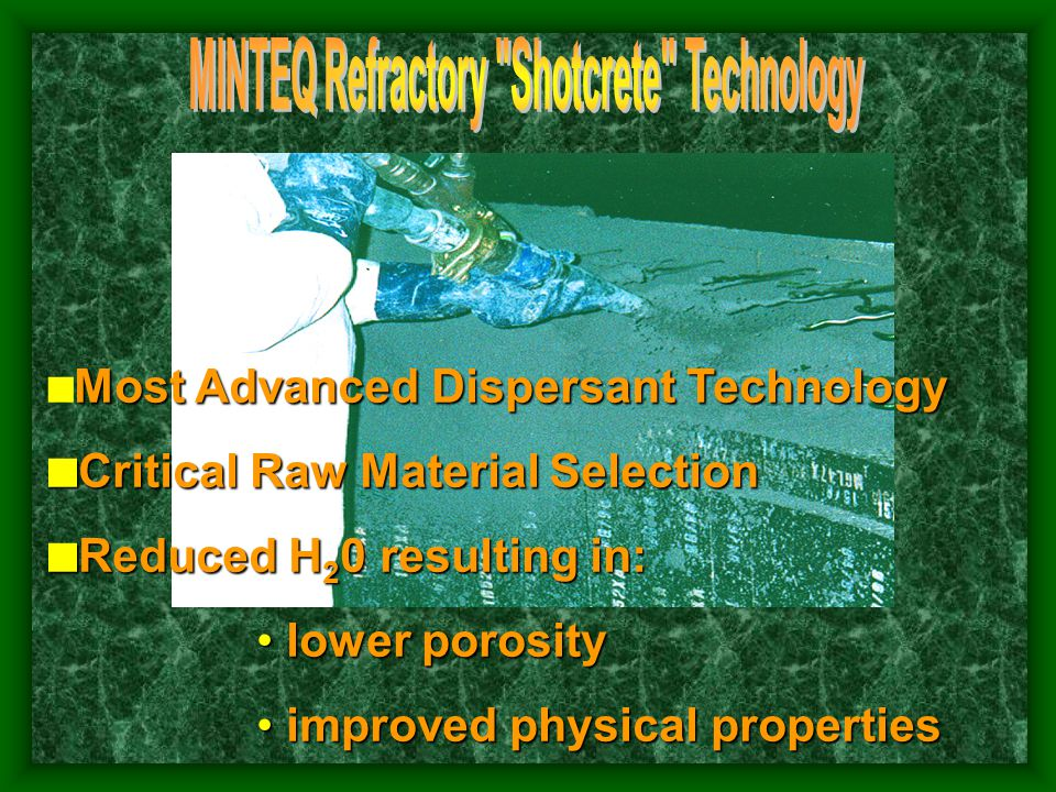 WATER LEVEL IMPLICATIONS High Water Levels Required to Install Gunnite and Competitive Shotcrete Materials Reduce Strength and Increase Porosity High Water Levels Require High Accelerator Levels