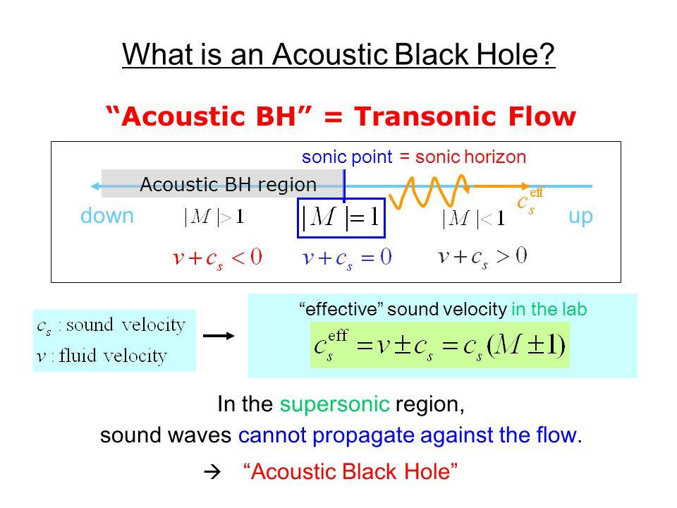 Example of Transonic Flow flow sonic horizon supersonicsubsonic