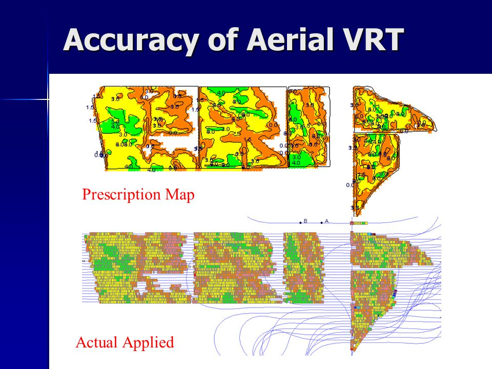 Accuracy of Aerial VRT Prescription Map Actual Applied