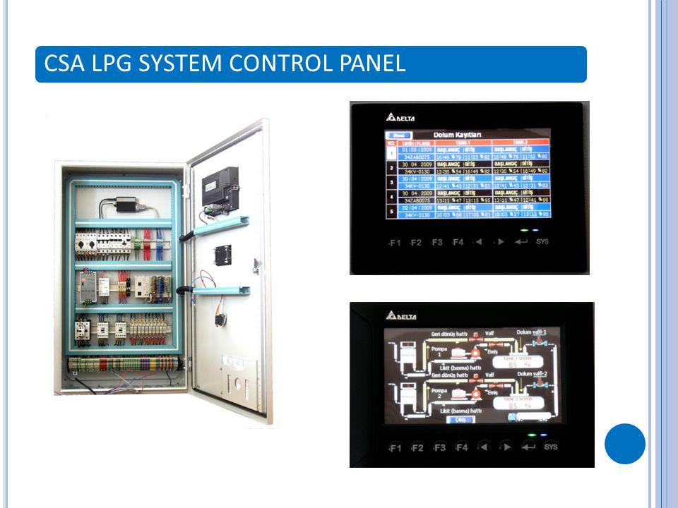 CSA LPG SYSTEM CONTROL PANEL