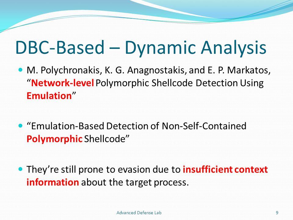 DBC-Based – Dynamic Analysis M. Polychronakis, K.
