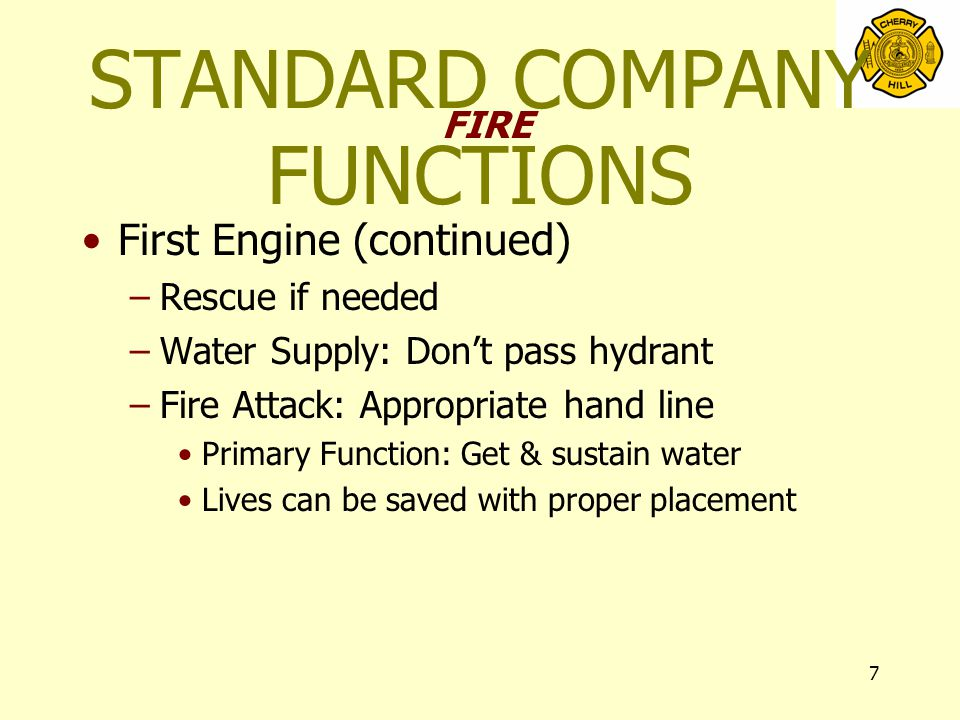 28 Constantly Move Forward –Stretch dry to safe area –Front door-- landing –Stairwell –Floor below –Door to basement- Do not descend dry Future actions hinge on this task Back-up line-- second engine OFFENSIVE ATTACK