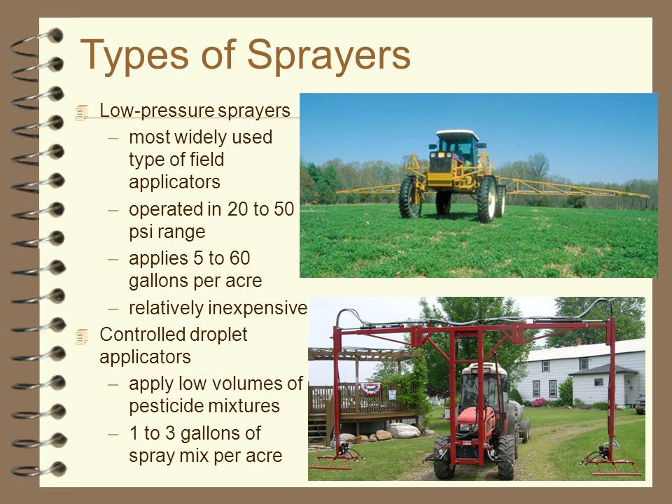 Objective #5 How are sprayers maintained?