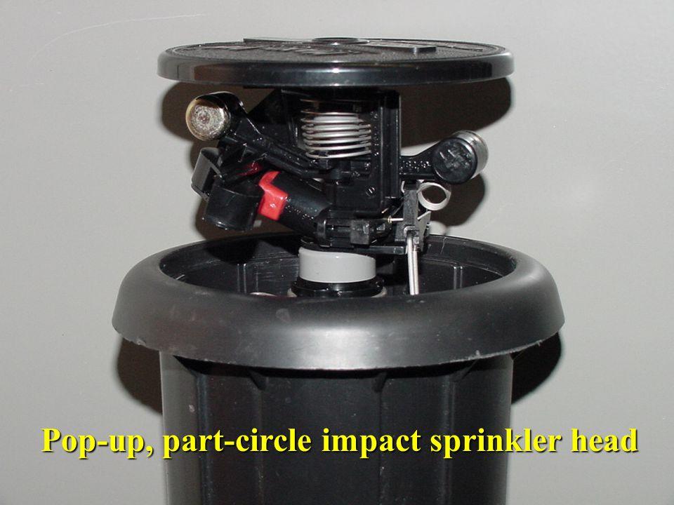 Pop-up, part-circle impact sprinkler head