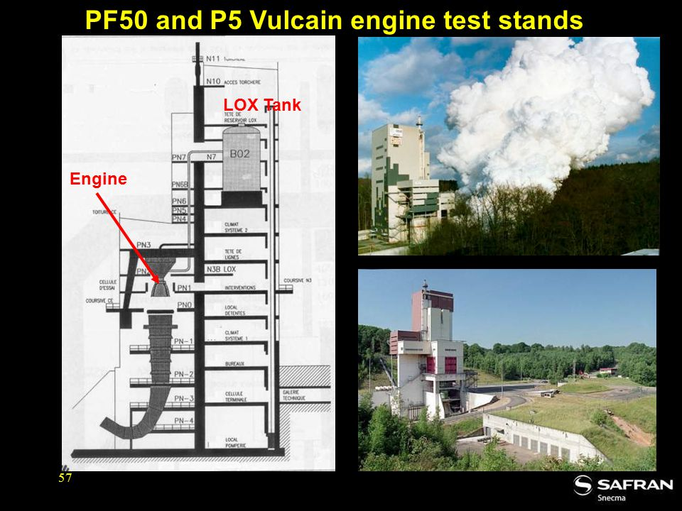 57 PF50 and P5 Vulcain engine test stands Engine LOX Tank