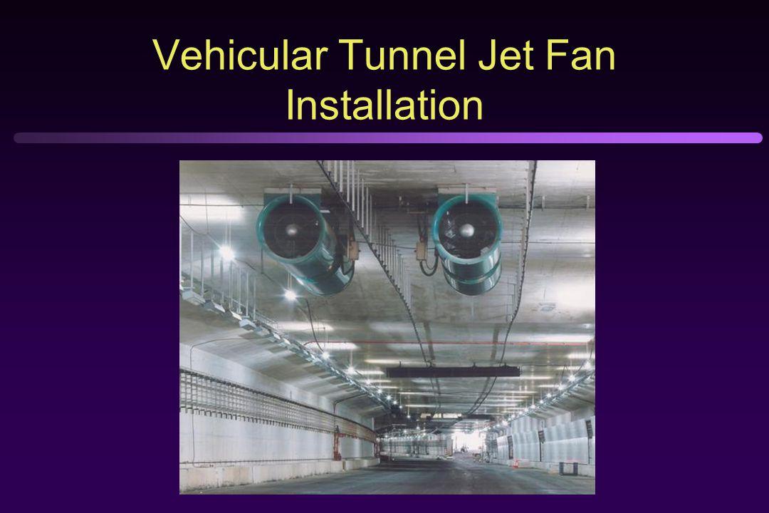 Vehicular Tunnel Jet Fan Installation