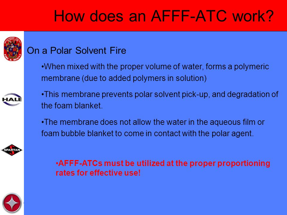 How does an AFFF-ATC work.
