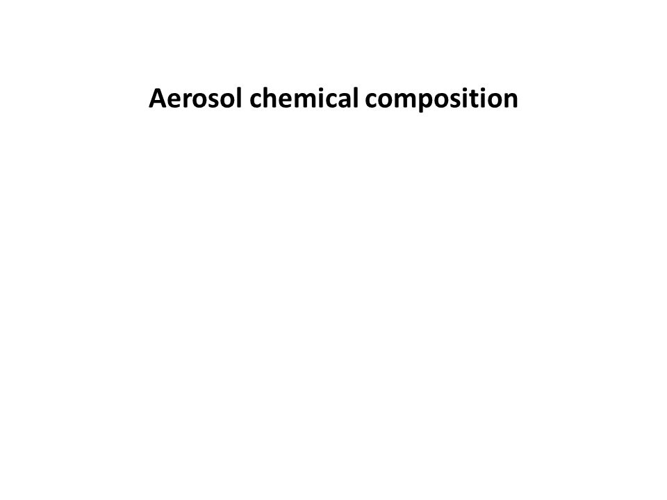 Aerosol chemical composition