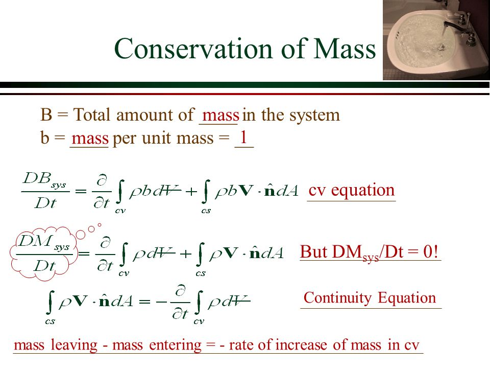 Conservation of Energy, Momentum, and Mass  Most problems in fluids require the use of more than one conservation law to obtain a solution  Often a simplifying assumption is required to obtain a solution  neglect energy losses (_______) over a short distance with no flow expansion  neglect shear forces on the solid surface over a short distance to heat mechanical