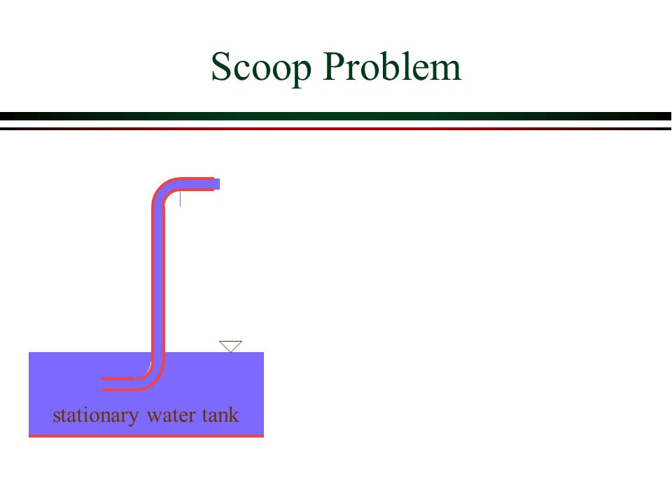 Scoop Problem stationary water tank
