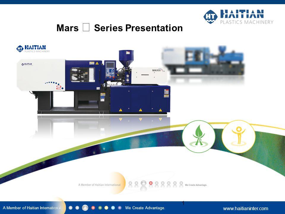 We Create Advantage. www.haitianinter.com A Member of Haitian International 1 Mars Ⅱ Series Presentation