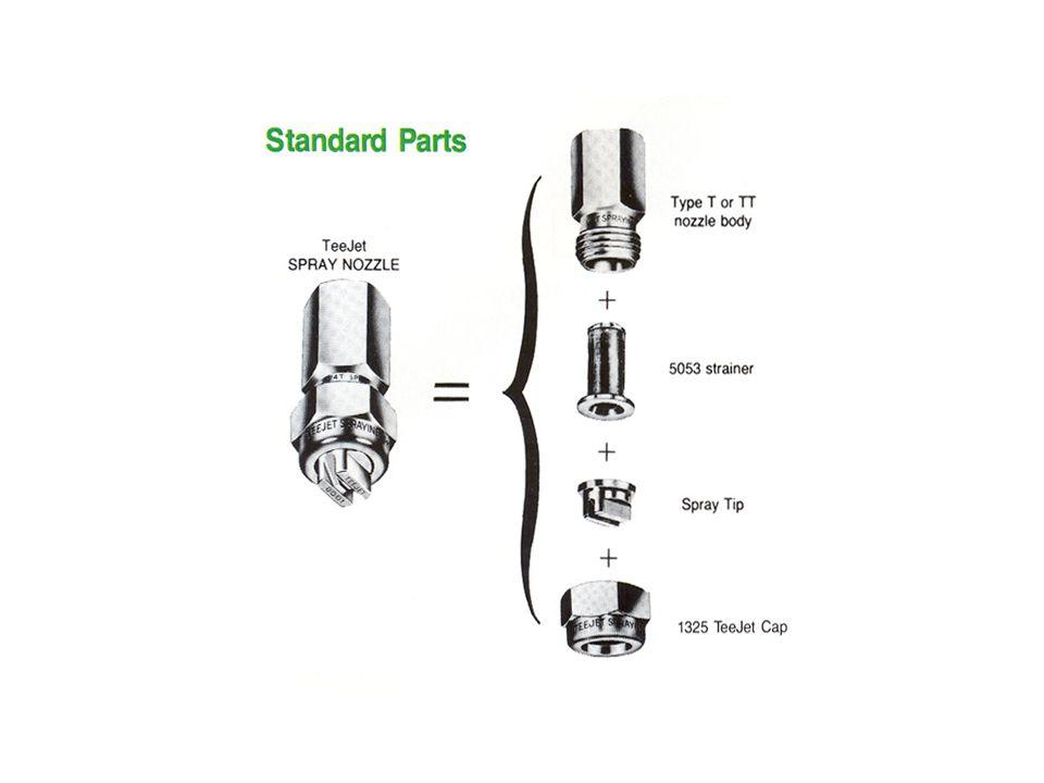 TurfJet ™ Wide Angle Flat Spray Nozzles Driftable Fine % at 40 psi: 1/4TTJ04-VS = < 1% (<150 Microns)