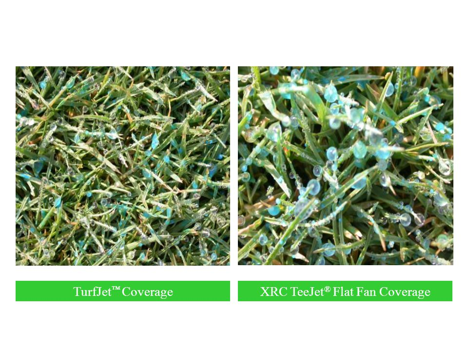 TurfJet ™ CoverageXRC TeeJet ® Flat Fan Coverage