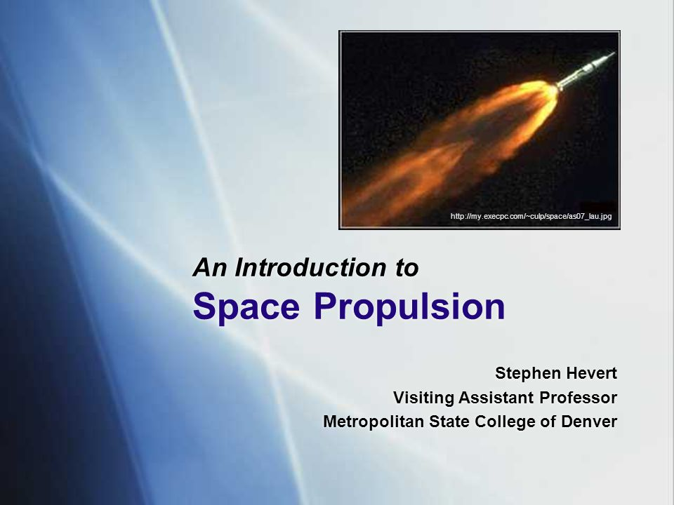 What Is Propulsion.
