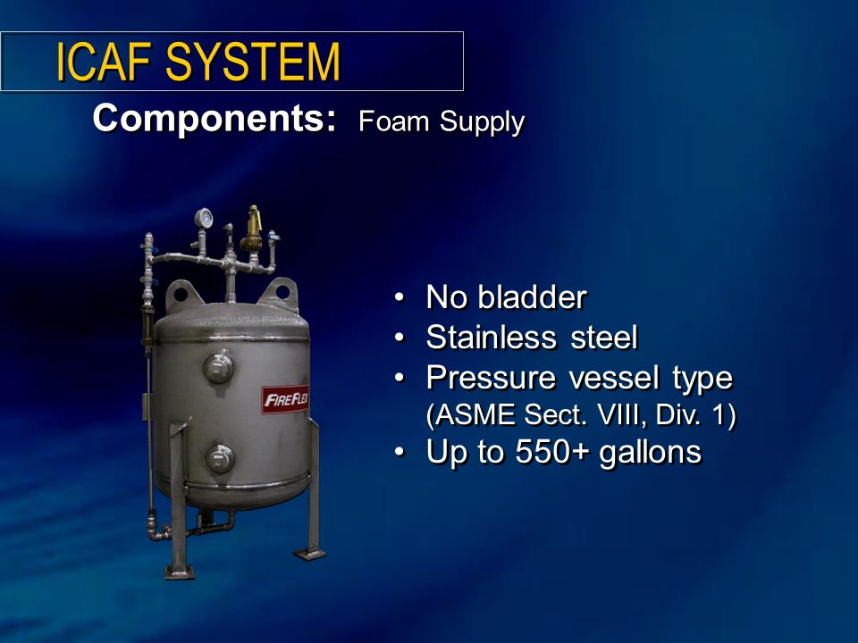 No bladder Stainless steel Pressure vessel type (ASME Sect.