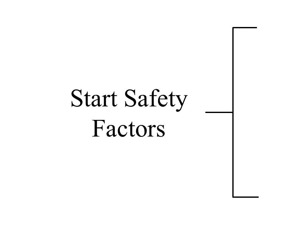 Start Safety Factors