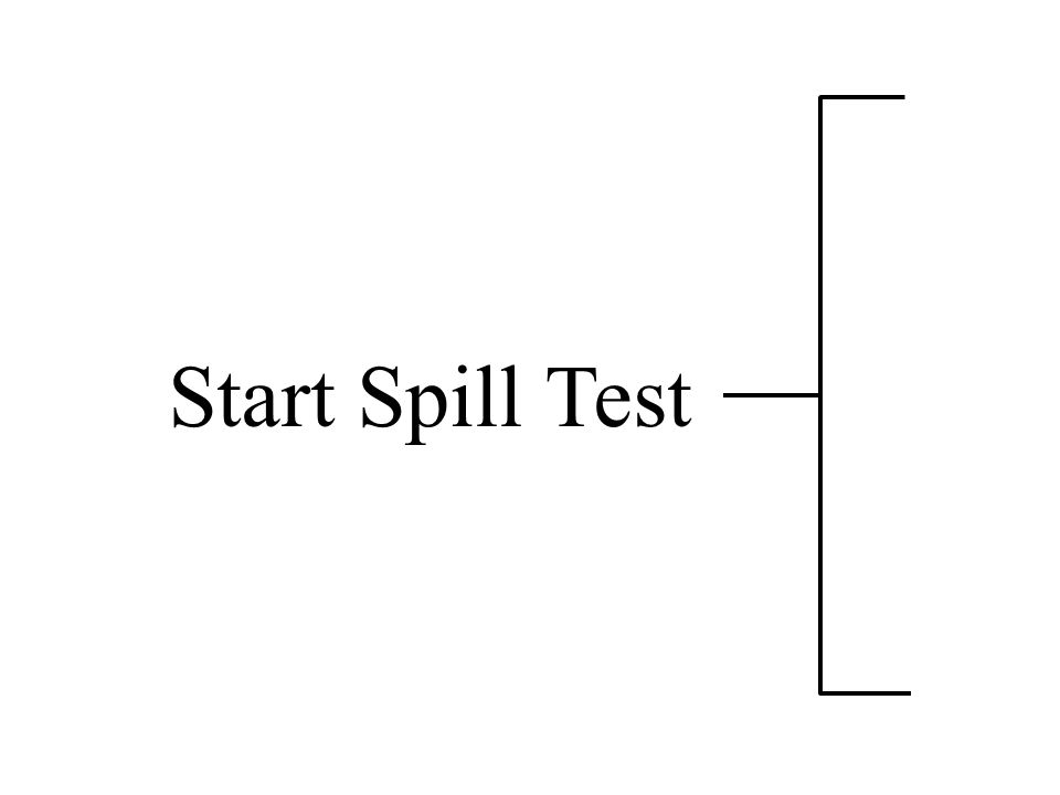 Start Spill Test