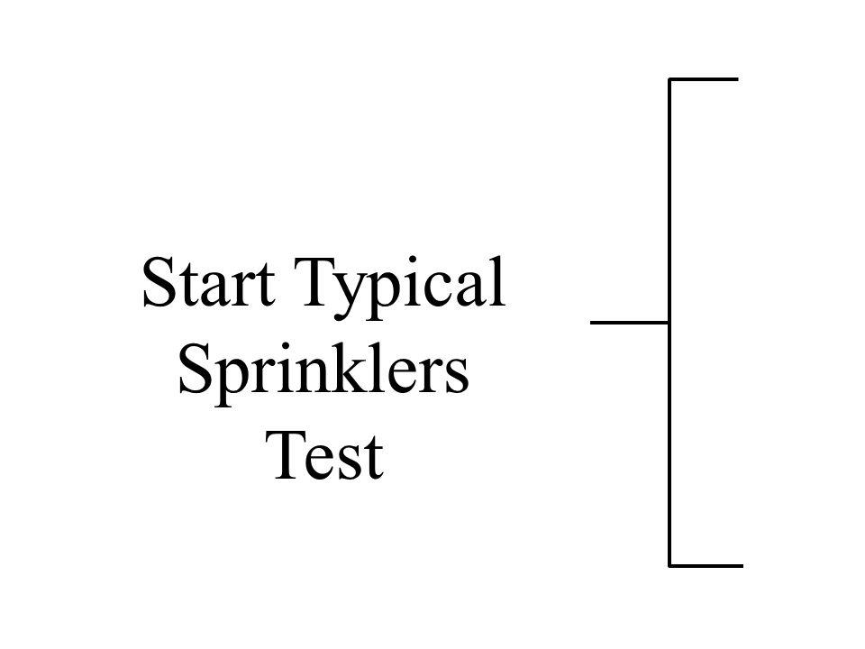 Start Typical Sprinklers Test