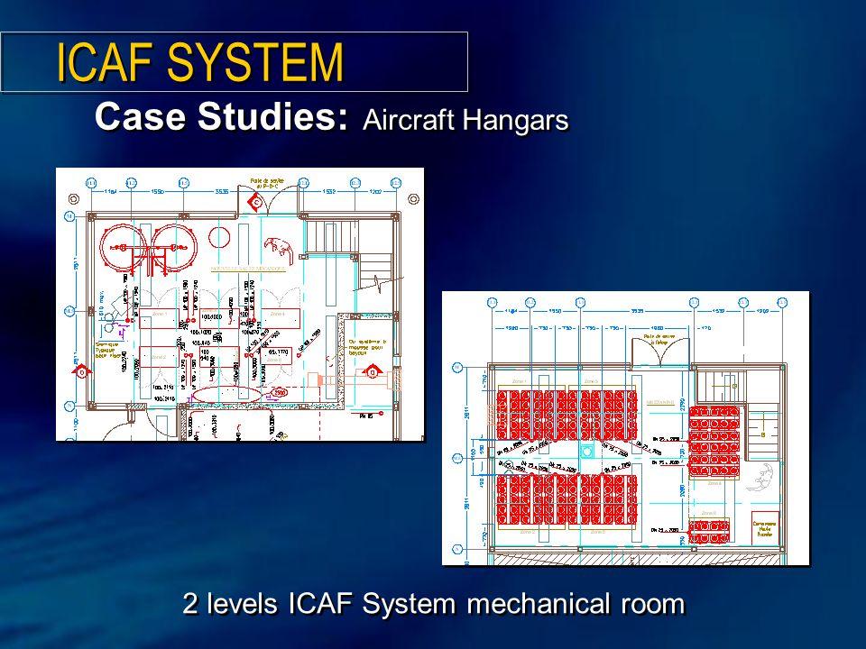 2 levels ICAF System mechanical room Case Studies: Aircraft Hangars ICAF SYSTEM